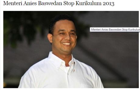 Anies Baswedan Kurtikas